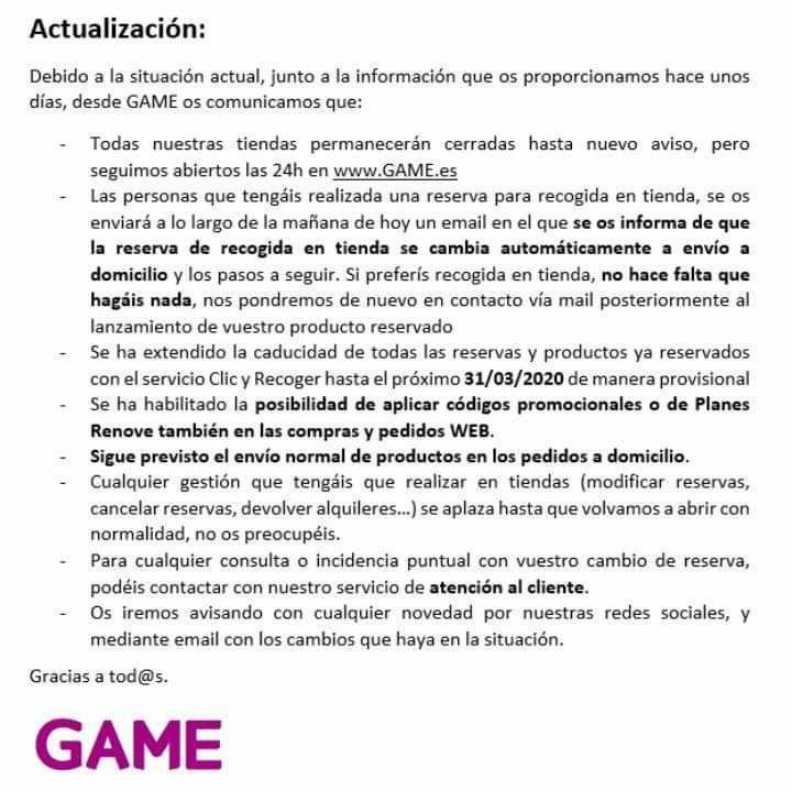 comunicado Game