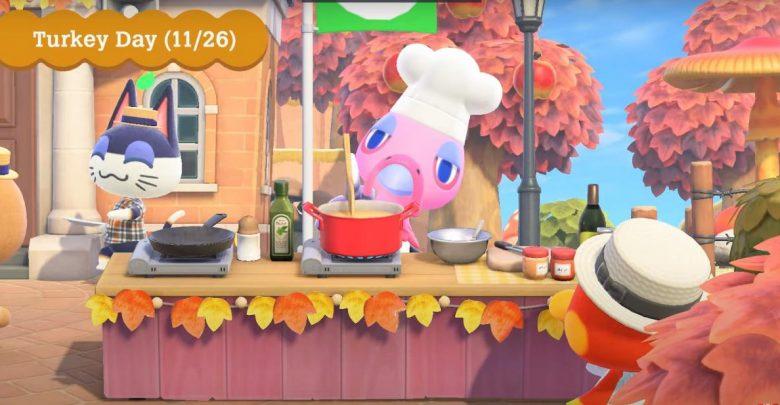 dia del pavo Animal Crossing