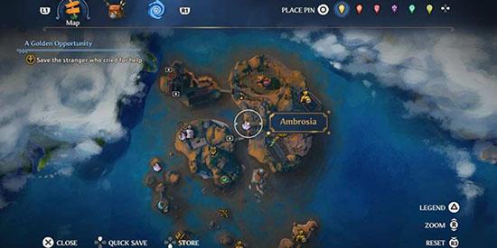 Inmortal Fenyx rising mapa